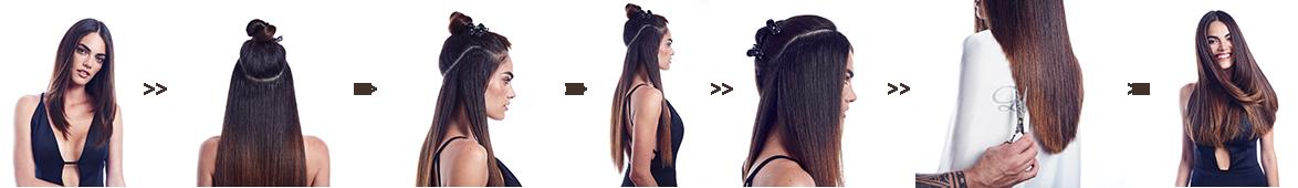 Haarverlängerung Ablauf